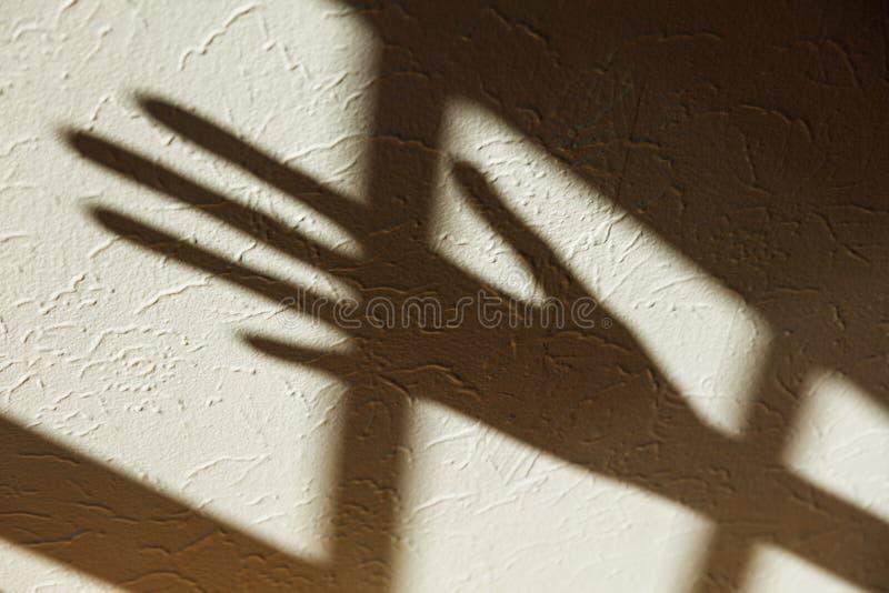 Ombra di una mano fotografie stock libere da diritti