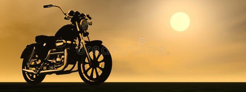 Tramonto di Motobike - 3D rendono royalty illustrazione gratis