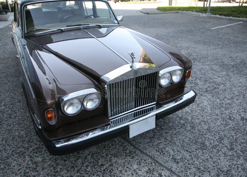 Ombra II Front View dell'argento di Rolls Royce fotografie stock libere da diritti