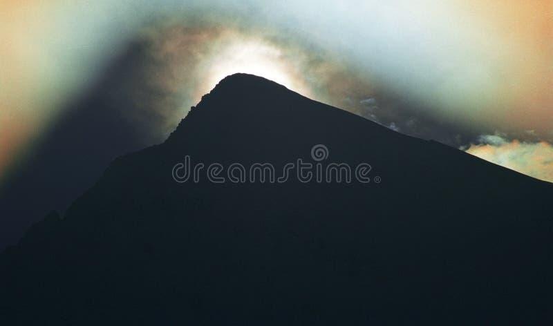 Ombra insolita della montagna fotografie stock libere da diritti
