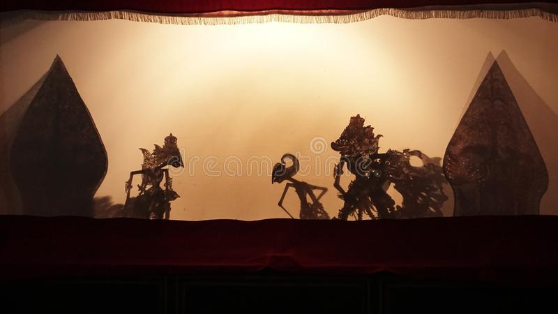 Ombra Yogyakarta di Pupet fotografie stock libere da diritti