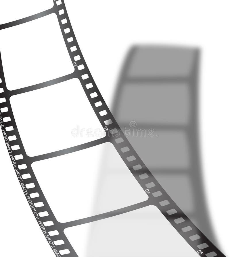 Ombre blanche de film illustration stock