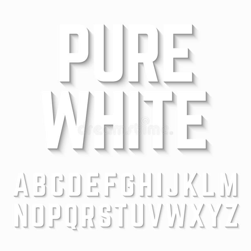 Ombre blanche pure d'alphabet illustration stock