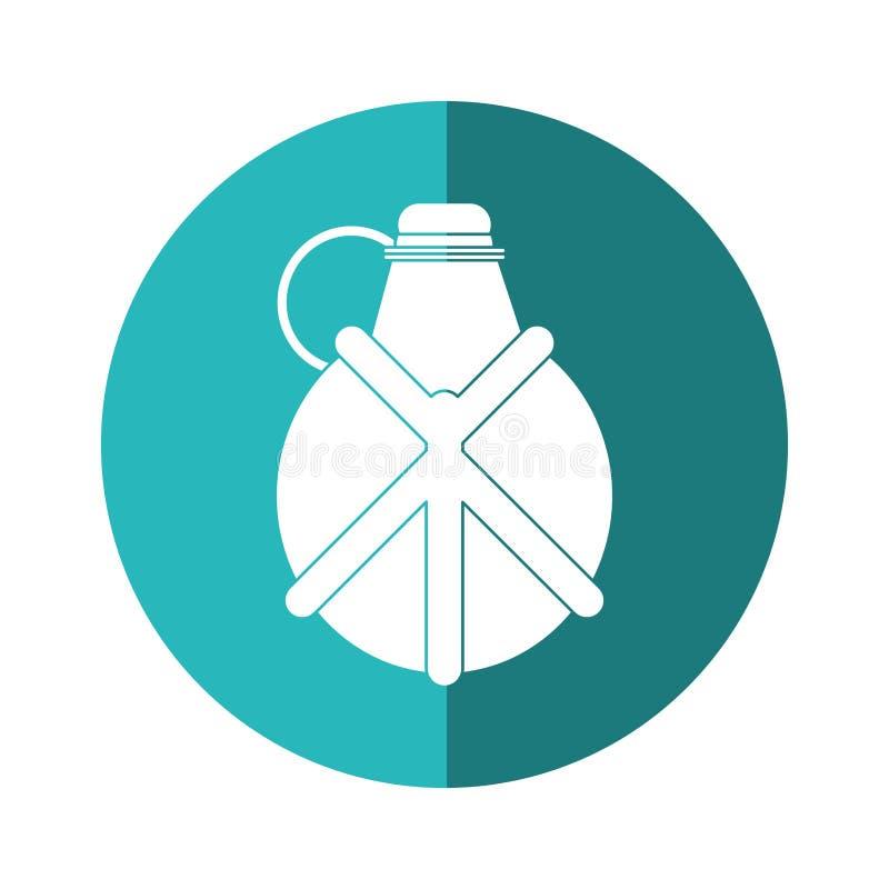 Ombre bleue campante de cercle d'équipement de cantine de l'eau illustration de vecteur