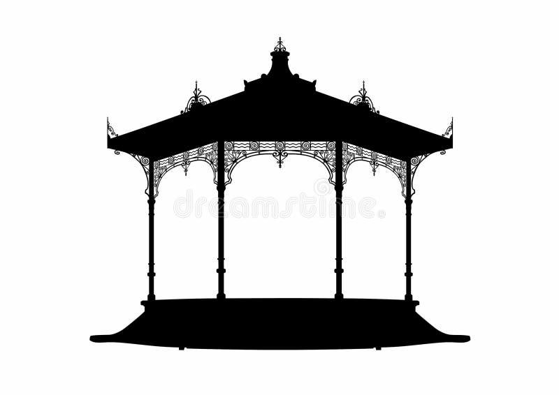 Ombre d'un kiosque à musique illustration libre de droits