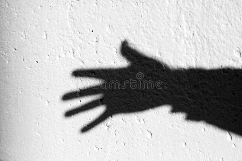 Ombre de bras photographie stock libre de droits