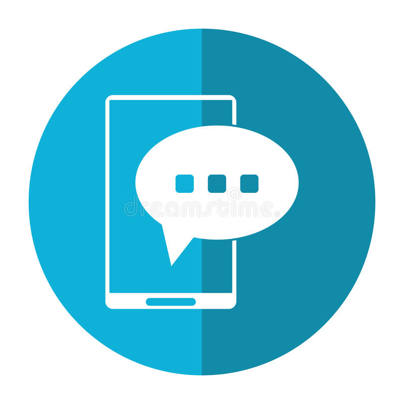 Ombre de conversation de la parole de bulle de Smartphone illustration stock