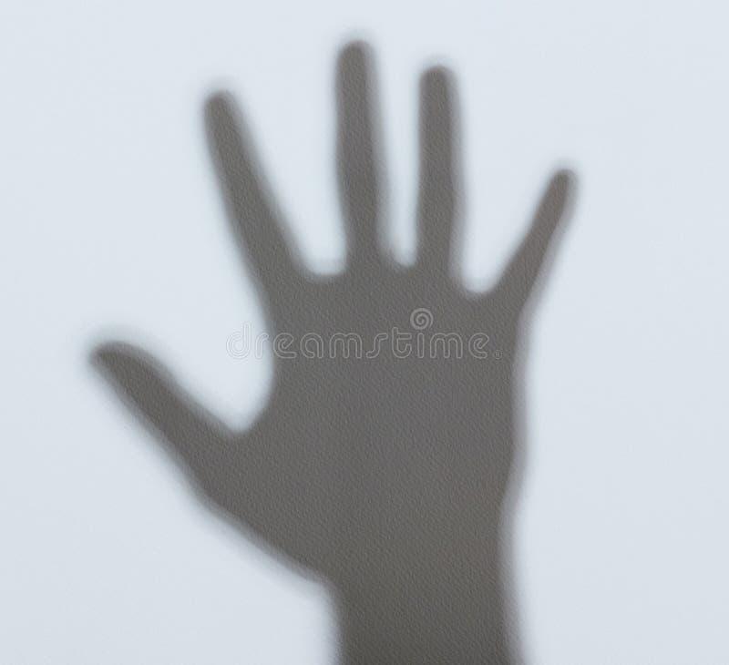 Ombre de paume de main image libre de droits
