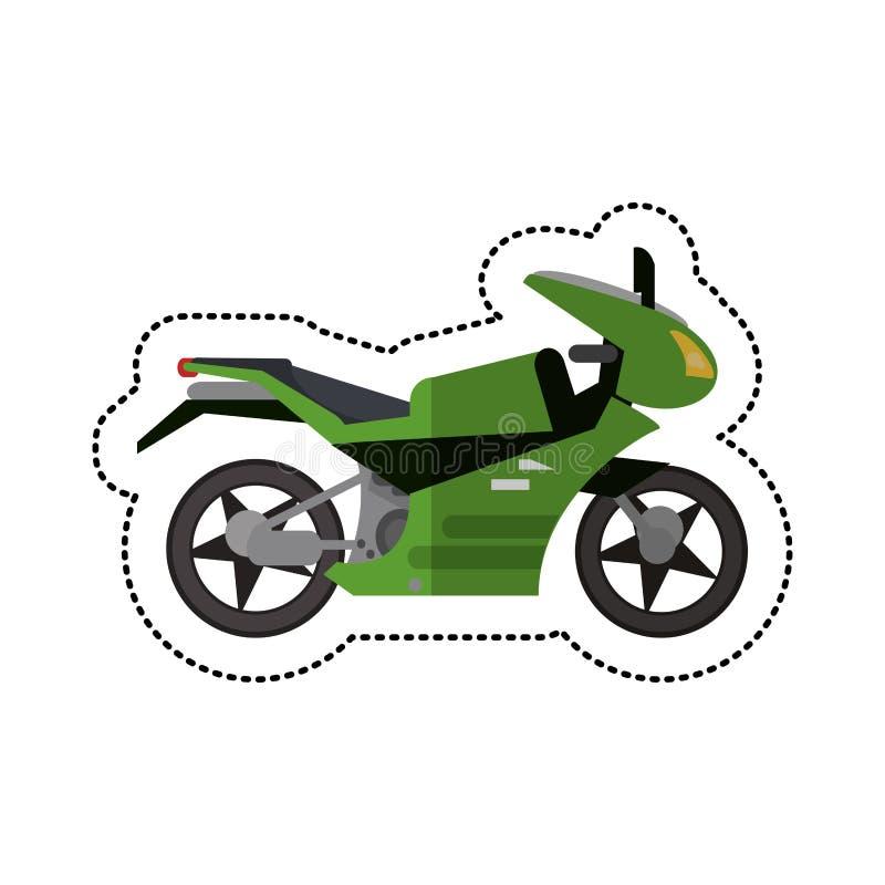 ombre de style de transport de moto illustration libre de droits