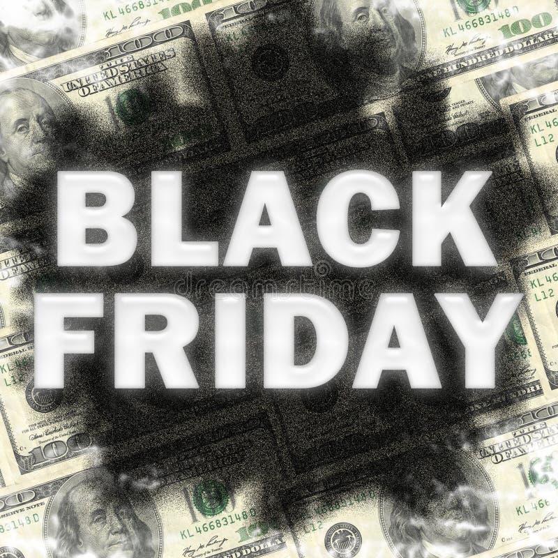 Ombre de toile de fond de vente de Black Friday photo stock