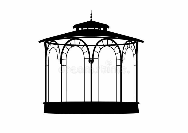 Ombre de vecteur d'un kiosque à musique image stock