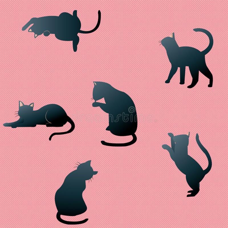 Ombre del gatto illustrazione di stock