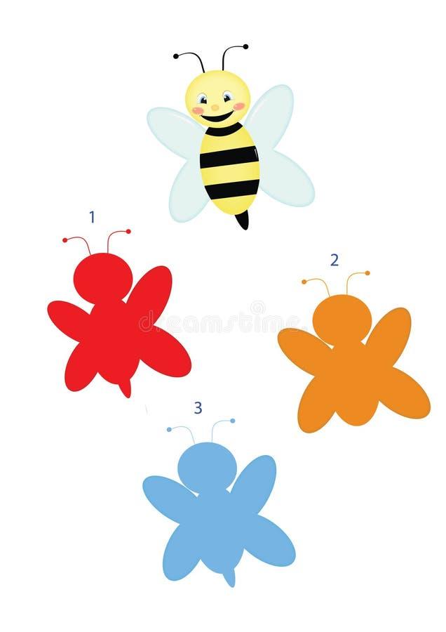 Ombre del gioco, ape illustrazione vettoriale