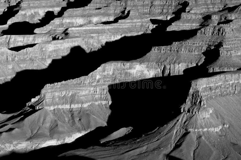 Ombre del grande canyon fotografia stock