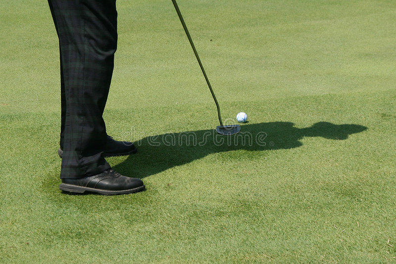 Ombre du golf photo stock