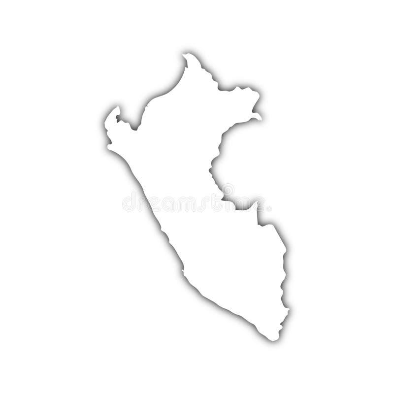 ombre du Pérou de carte illustration de vecteur