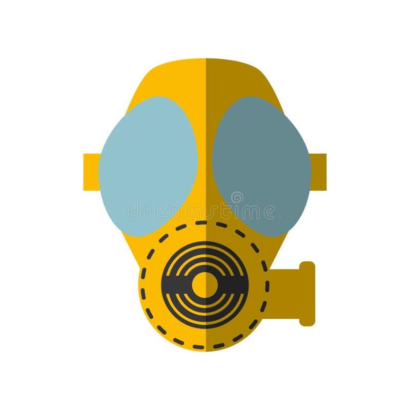 Ombre protectrice de respiration de masque de gaz de bande dessinée illustration libre de droits