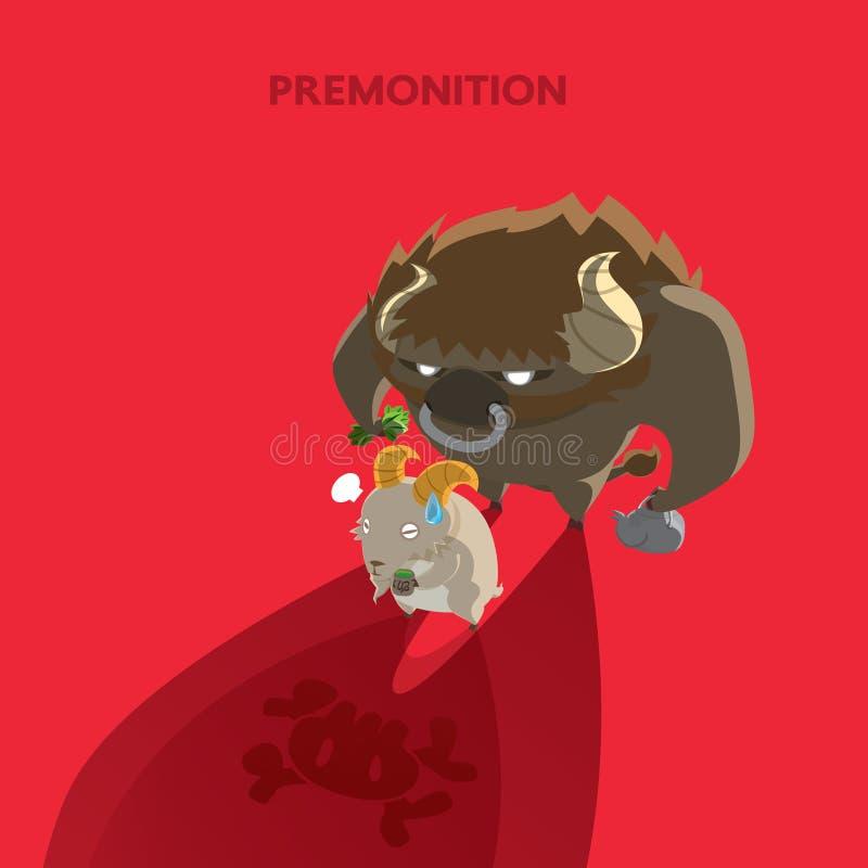 Ombre rouge illustration de vecteur