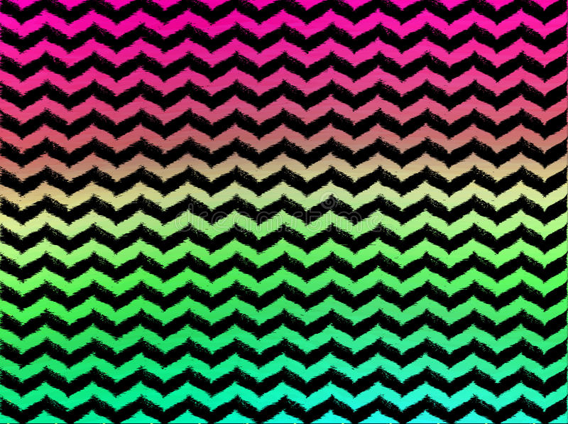 Ombre Wavy Chevrons on Black Background royalty free stock photo