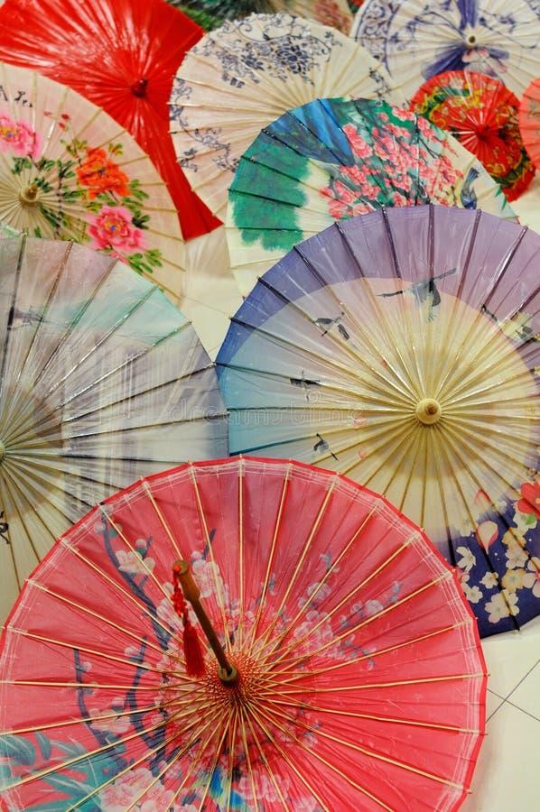 Ombrelli cinesi del oilpaper fotografia stock