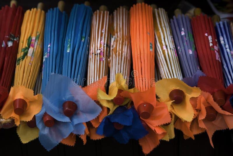 Ombrelli del documento cinese fotografia stock