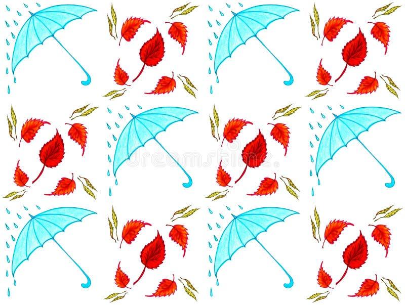 Ombrelli senza cuciture del blu di struttura illustrazione di stock