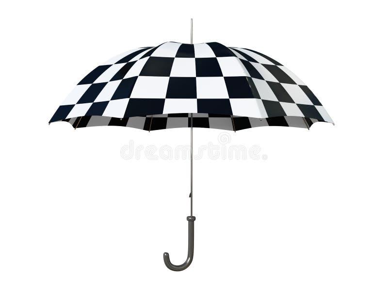 Ombrello in bianco e nero illustrazione di stock