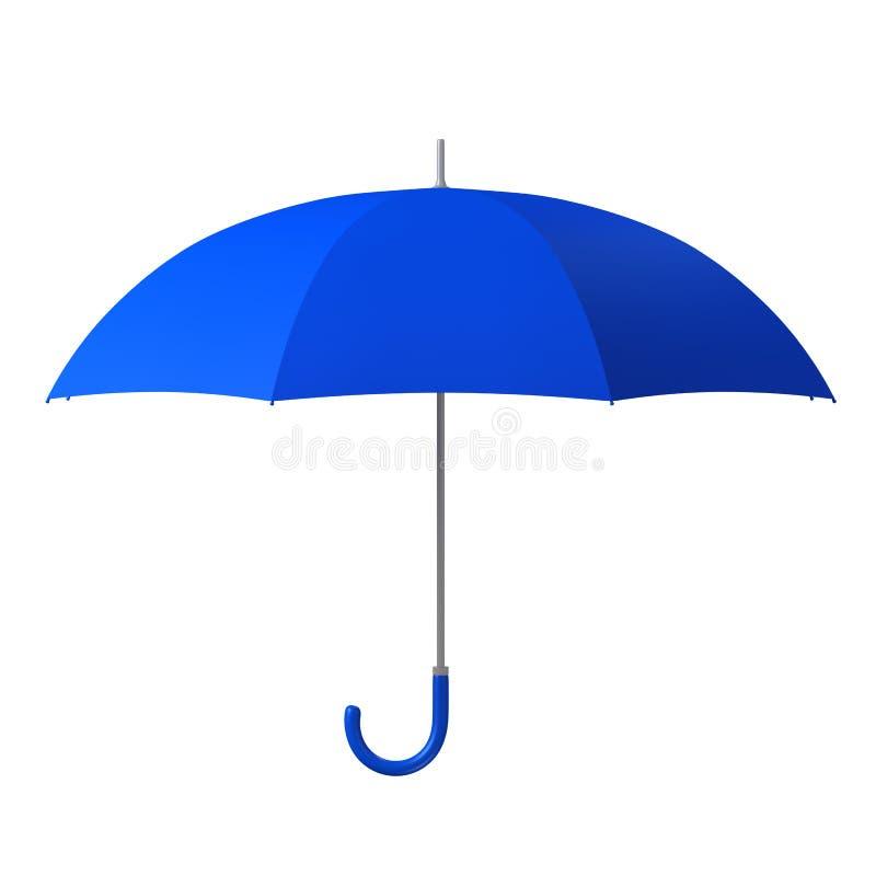 Ombrello blu immagine stock