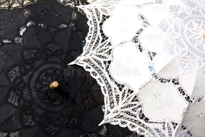 Ombrello del merletto a Venezia fotografia stock