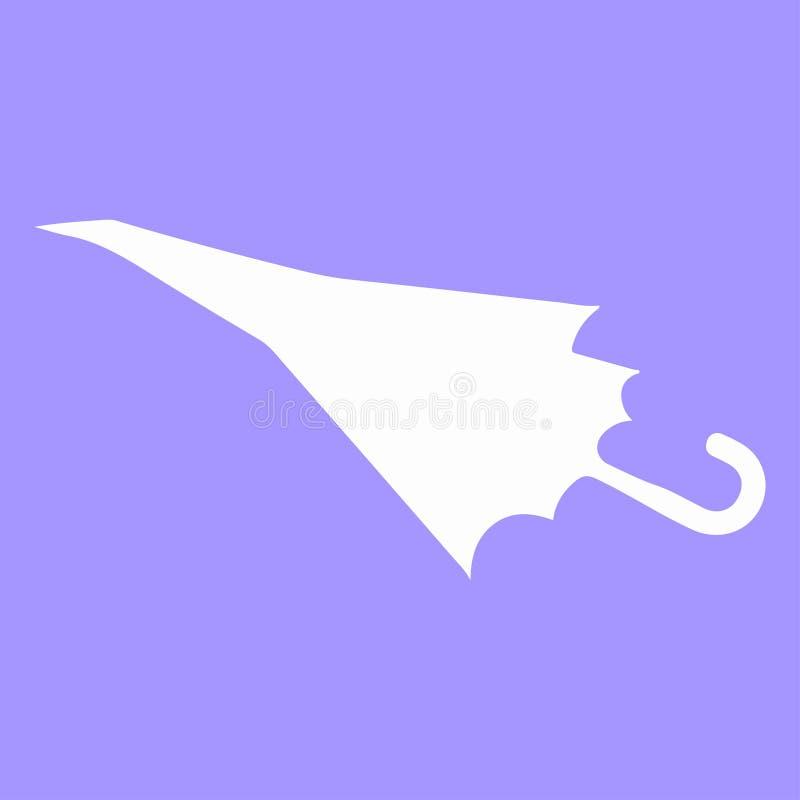 Ombrello dell'aeroplano di carta illustrazione vettoriale