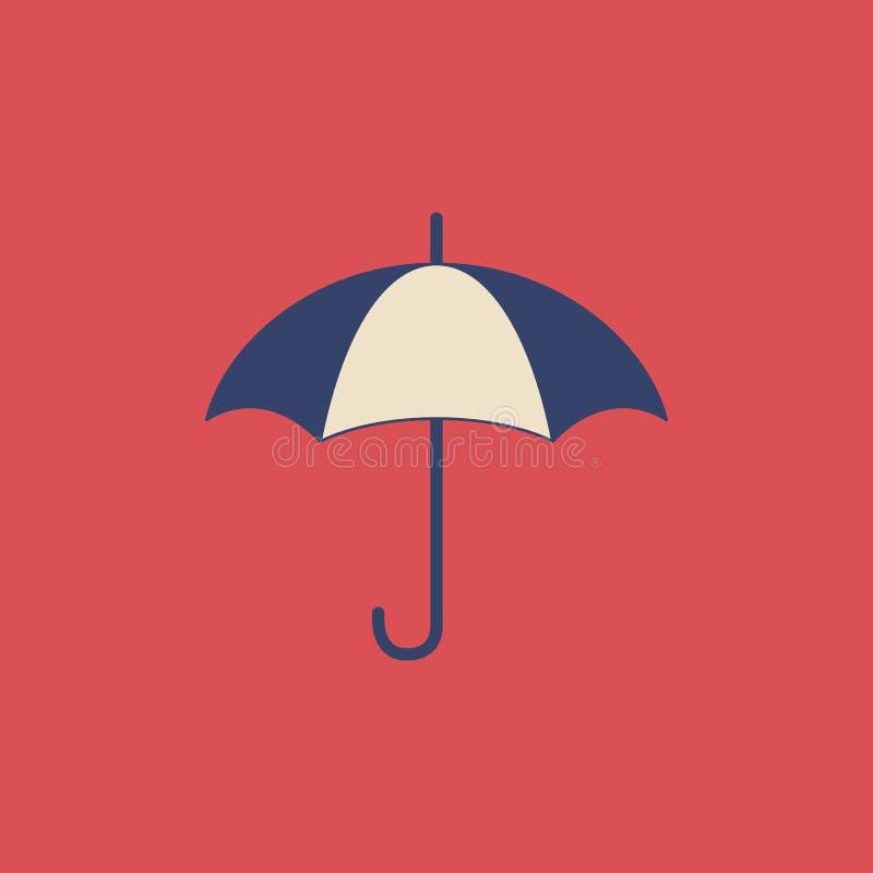 Ombrello di vettore nello stile piano moderno su fondo leggero Manifesto con l'ombrello illustrazione vettoriale