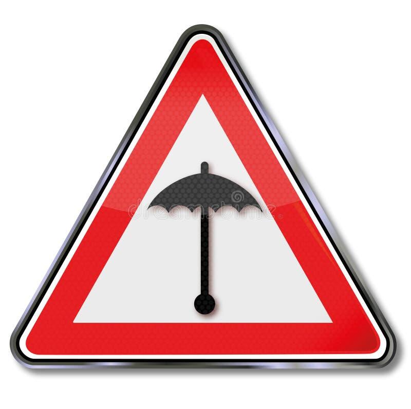 Ombrello e bollettino meteorologico royalty illustrazione gratis