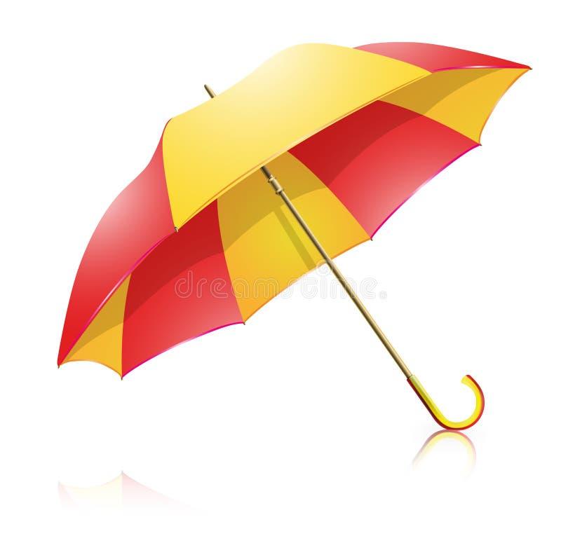 ombrello Giallo-rosso royalty illustrazione gratis