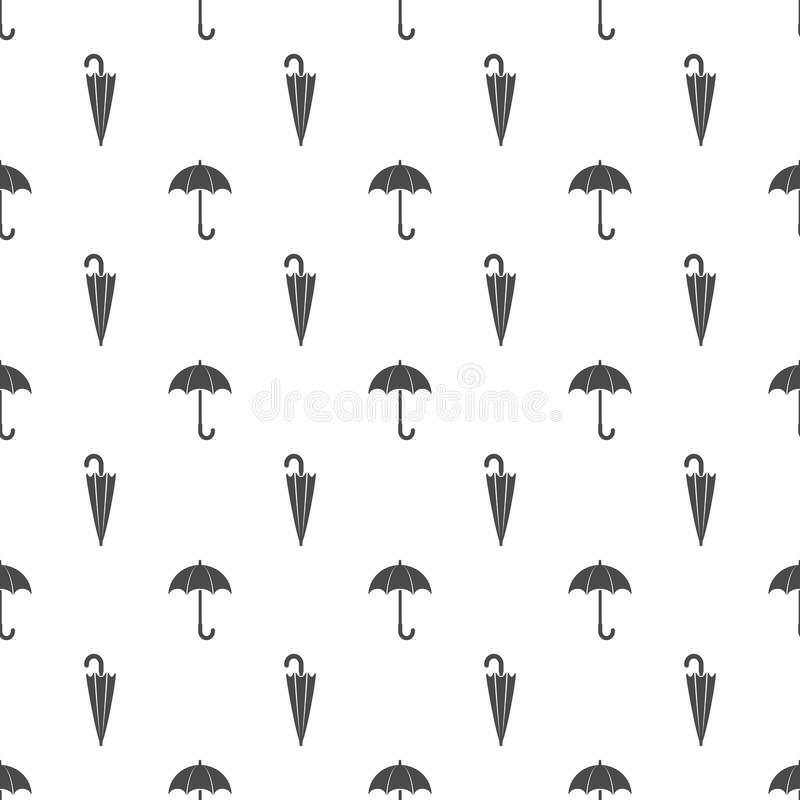 ombrello Modello senza cuciture con l'ombrello aperto e chiuso illustrazione vettoriale