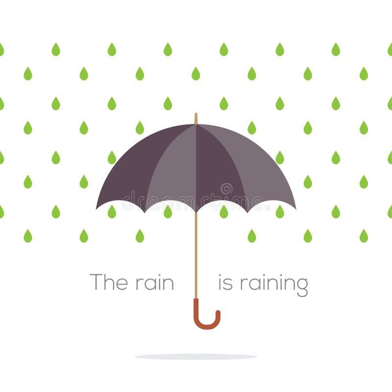 Ombrello nella pioggia royalty illustrazione gratis