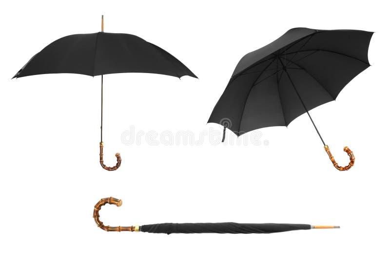 Ombrello nero immagini stock