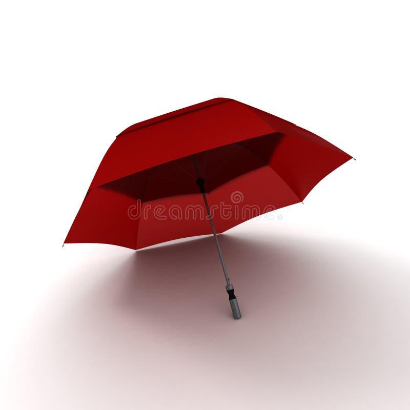 Ombrello rosso royalty illustrazione gratis