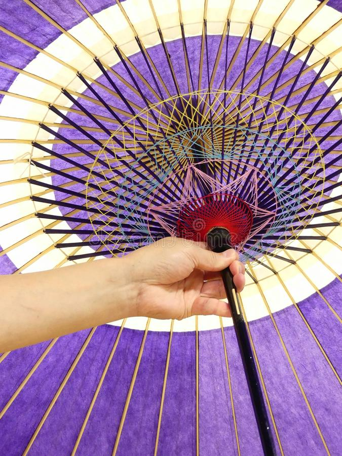 Ombrello tradizionale giapponese immagini stock
