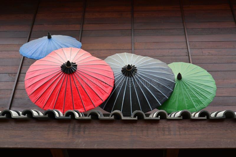 Ombrello tradizionale giapponese fotografia stock libera da diritti