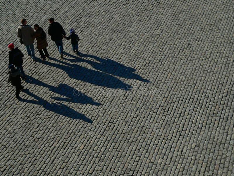Download Ombres image stock. Image du brique, place, ensemble, promenade - 733713