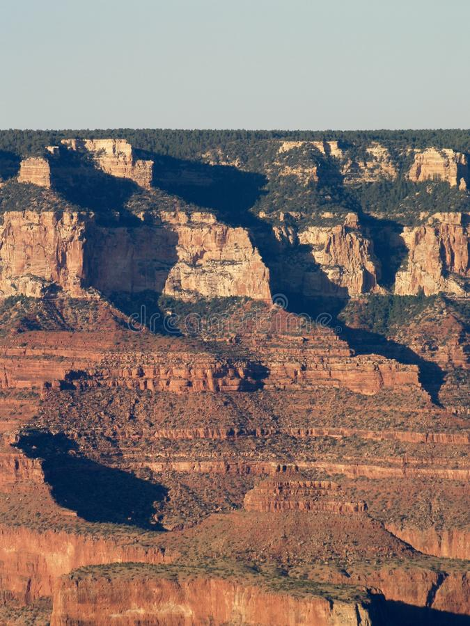 Ombres dans Grand Canyon photographie stock libre de droits