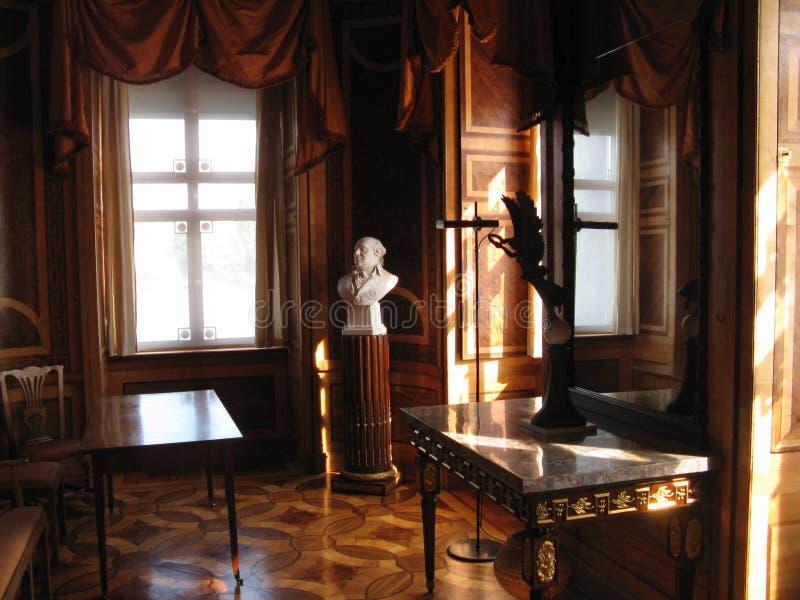 Ombres dans le palais de marbre photographie stock