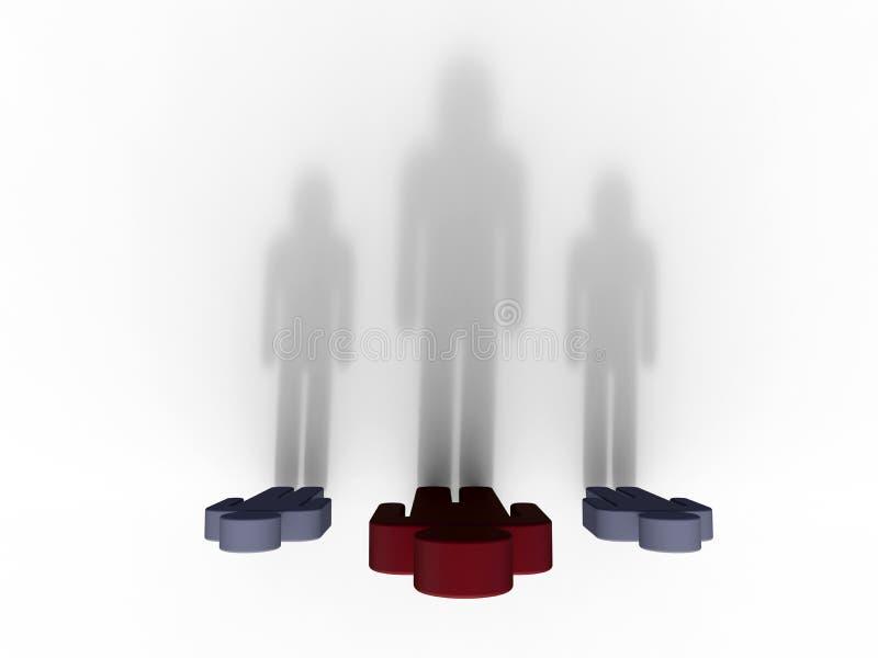 Ombres de bâti cutous d'homme d'affaires longues illustration libre de droits