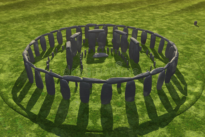 Ombres de bâti de Stonehenge illustration stock