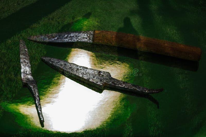 Ombres des ancêtres lointains photo libre de droits