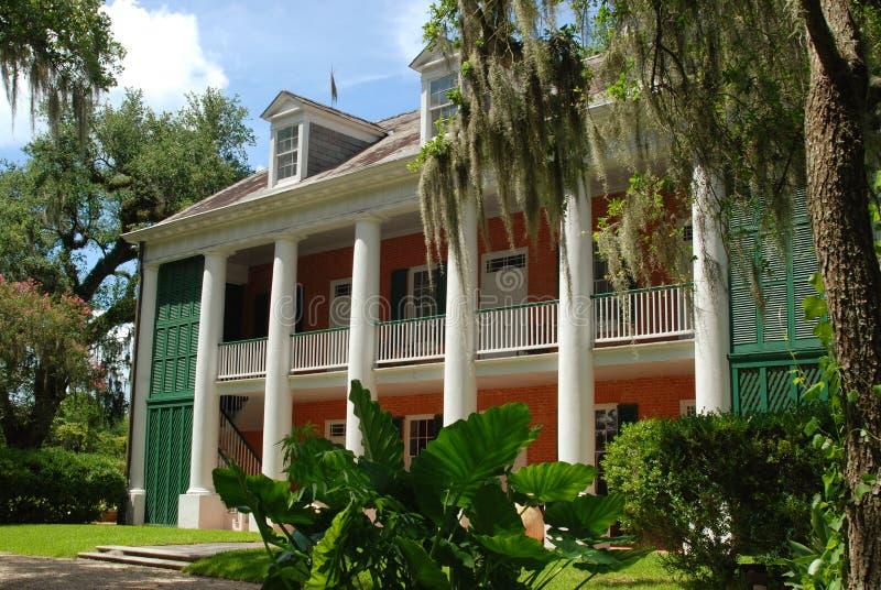 Ombres historiques de plantation sur le Teche image libre de droits