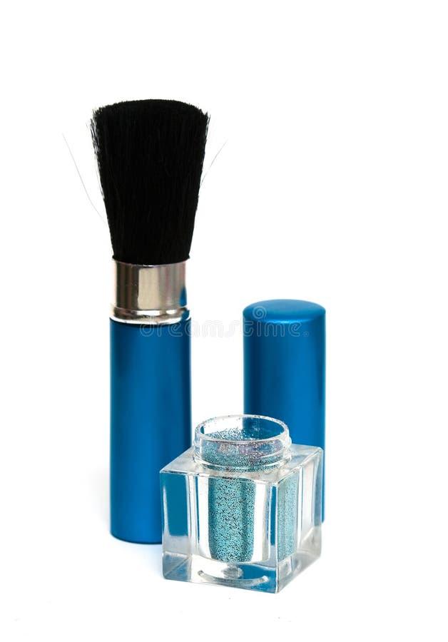 Download Ombretti blu di trucco fotografia stock. Immagine di salute - 7317268