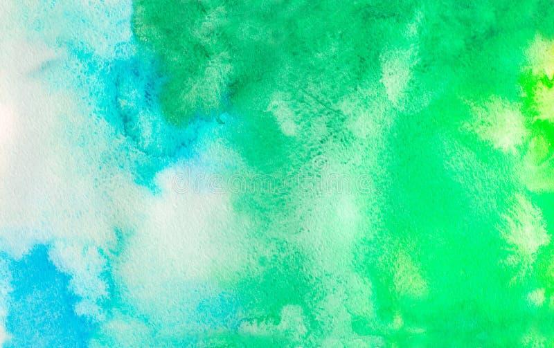 Ombrewaterverf backgound De hand trekt illustratie vector illustratie