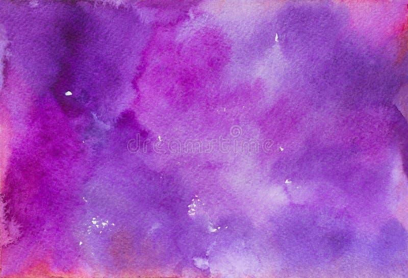 Ombrewaterverf backgound De hand trekt illustratie royalty-vrije illustratie