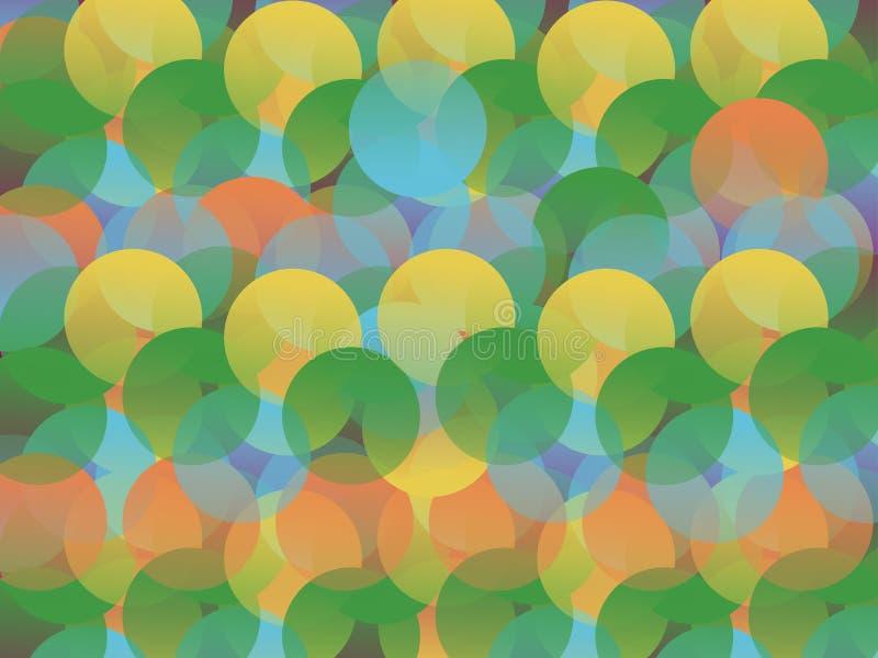 Omcirkelde kleurensamenvatting vector illustratie